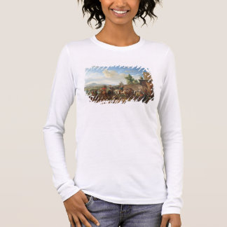 A Hunting Party by a Country House (oil on canvas) Long Sleeve T-Shirt