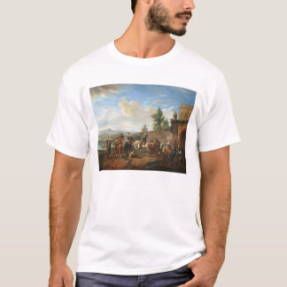 A Hunting Party by a Country House (oil on canvas) T-Shirt