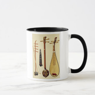A huqin and bow, a sheng, a sanxian and a pipa, Ch Mug
