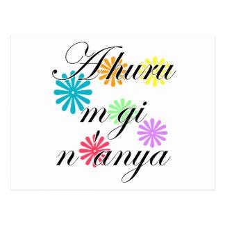 A huru m gi n'anya - Igbo I love you (2) Flowers Postcard