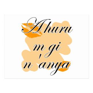 A huru m gi n'anya - Igbo I love you (2) Orange Ki Postcard