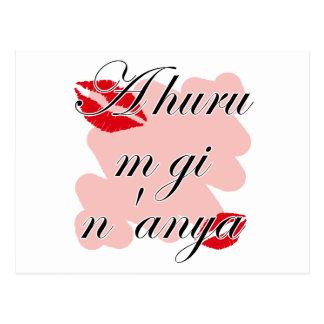 A huru m gi n'anya - Igbo I love you (2) Red Kisse Postcard