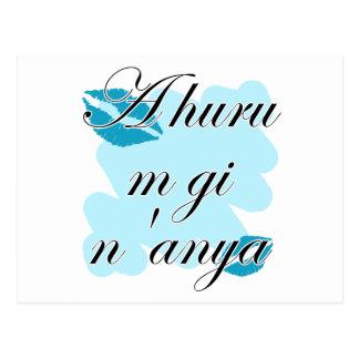 A huru m gi n'anya - Igbo I love you (2) Teal Kiss Postcard