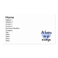 A huru m gi n'anya - Igbo I love you (3) Blue Hear Business Card
