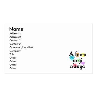 A huru m gi n'anya - Igbo I love you (3) Flowers.p Business Cards