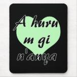A huru m gi n'anya - Igbo I love you Green Hearts. Mouse Pad