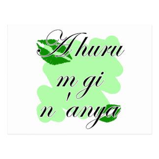 A huru m gi n'anya - Igbo I love you  Green Kiss Postcard