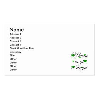 A huru m gi n'anya - Igbo I love you Hearts Green Business Card Template