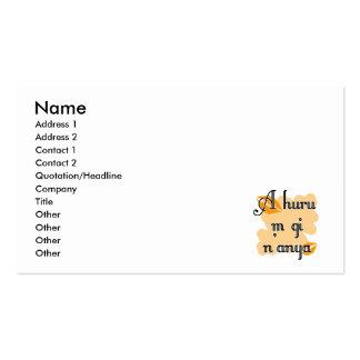 A huru m gi n'anya - Igbo I love you Orange Kiss Business Card Template