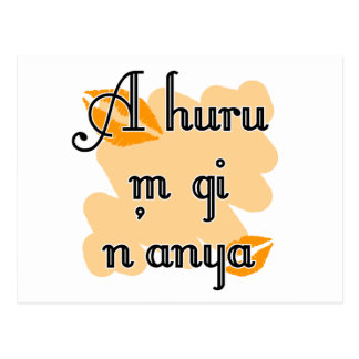 A huru m gi n'anya - Igbo I love you Orange Kiss Postcard