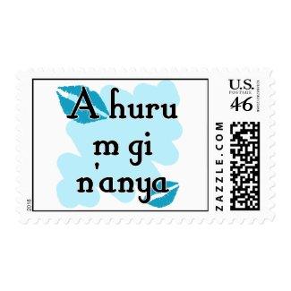 A huru m gi n'anya - Igbo I love You stamp