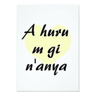 A huru m gi n'anya - Igbo I love you Yellow Heart. Card