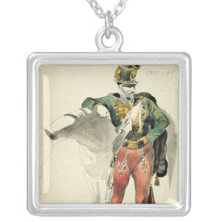 A Hussar of the 9th Regiment Silver Plated Necklace