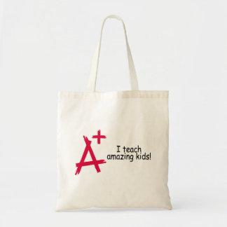 A+ I Teach Amazing Kids Canvas Bag