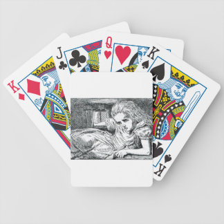 A;ice crammed in a House Bicycle Playing Cards