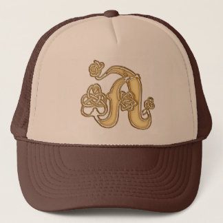 A Initial-Branded Personalised Fashion Hat