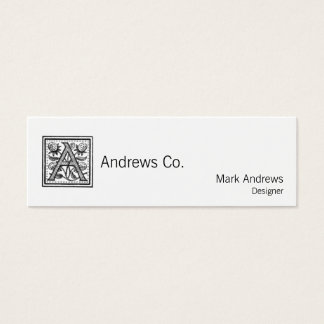 A Initial from A Monk of Fife Mini Business Card
