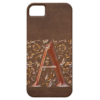A Initial Leather-look Customised Phone Case