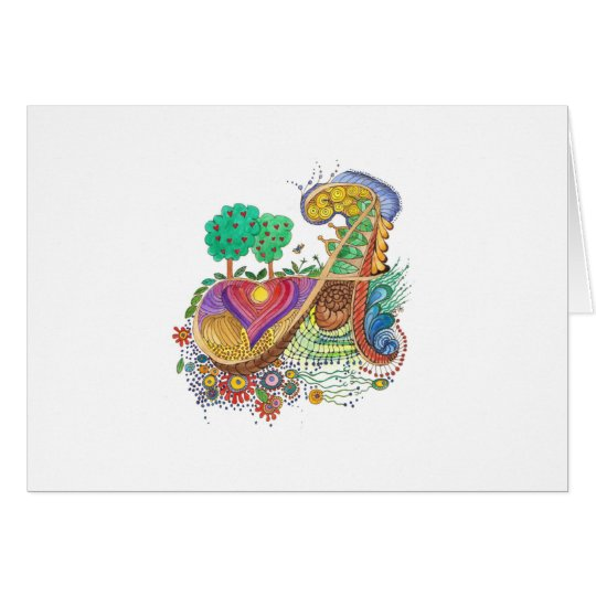A, initial, monogram, wedding card