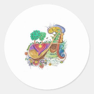 A, initial, monogram, wedding classic round sticker