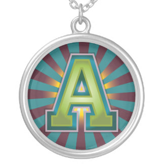 A Initial Silver Plated Necklace