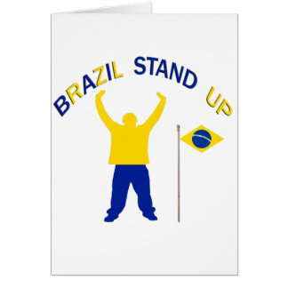 A Inspirational Brazil Stand Up Greeting Card
