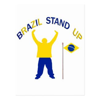 A Inspirational Brazil Stand Up Post Card