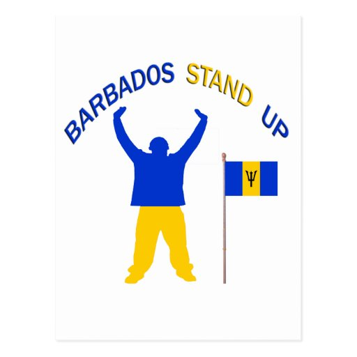 A Insprational Barbados Stand Up Postcard