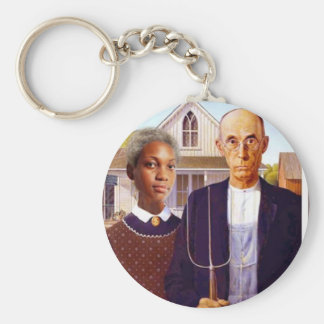 a interracial story basic round button keychain