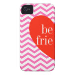 a iPhone 4 Chevron Pink Best Friends Matching Case iPhone 4 Cover
