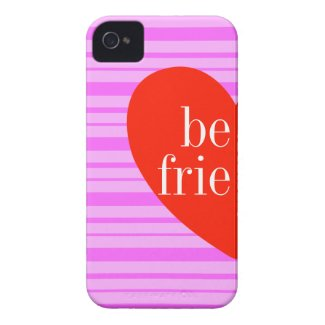 a iPhone 4 Pink Stripe Best Friends Matching Cases
