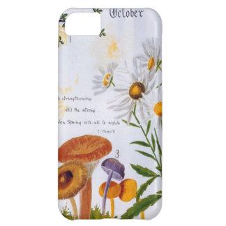 A iPhone 5 Case Vintage Garden Mushroom Image
