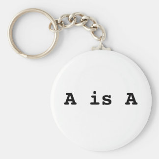 A is A the law of identity Key Chain