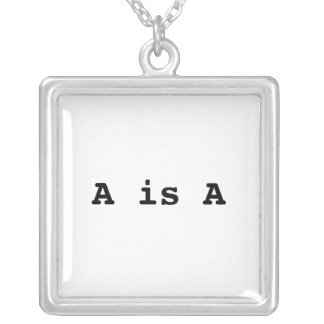 A is A = the law of identity Square Pendant Necklace