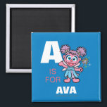 """A is for Abby Cadabby   Add Your Name Magnet<br><div class=""""desc"""">Personalize this fun Abby Cadabby design by adding your name and first letter. &#169; 2014 Sesame Workshop. www.sesamestreet.org</div>"""