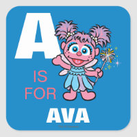 A is for Abby Cadabby | Add Your Name Square Sticker
