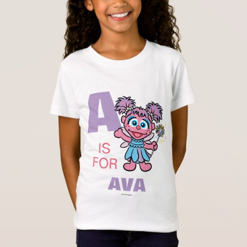 A is for Abby Cadabby  Add Your Name T_Shirt