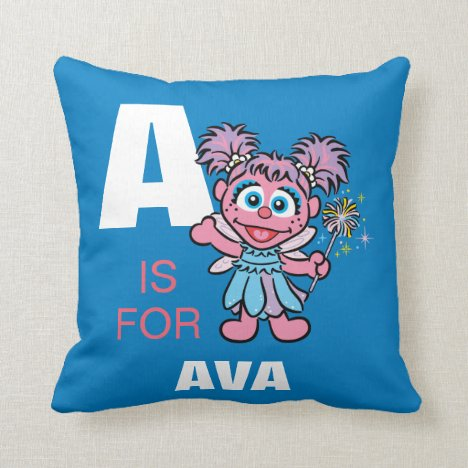 A is for Abby Cadabby   Add Your Name Throw Pillow