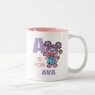 A is for Abby Cadabby | Add Your Name Two-Tone Coffee Mug