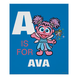 A is for Abby Poster