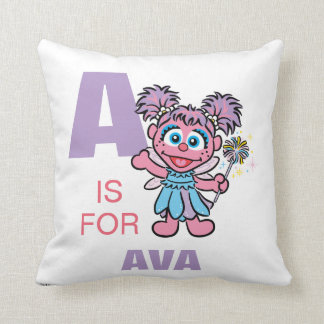 A is for Abby Throw Pillow