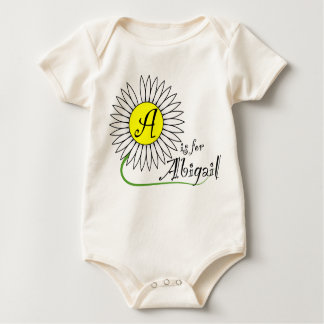 A is for Abigail Daisy Baby Bodysuit