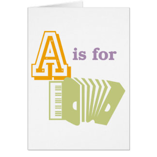 A is for Accordion Card