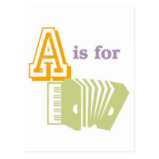 A is for Accordion Postcard