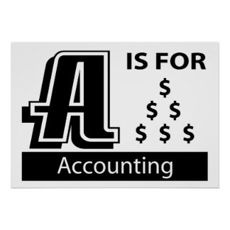 A Is For Accounting Poster