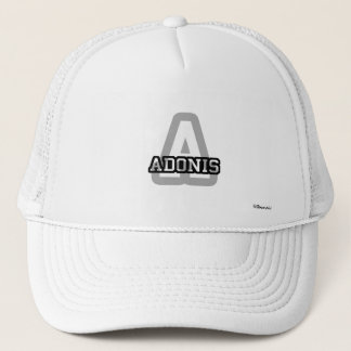 A is for Adonis Trucker Hat