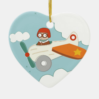 A is for Aeroplane Ceramic Ornament