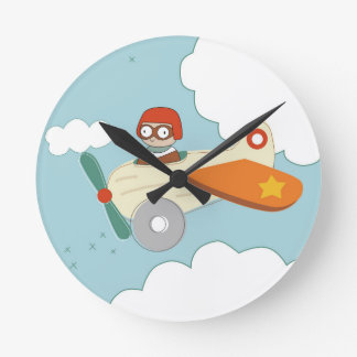 A is for Aeroplane Round Clock