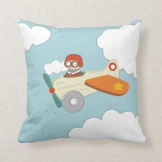 A is for Aeroplane Throw Pillow