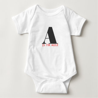 A is for agile baby bodysuit
